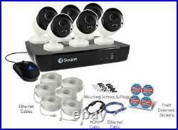 Swann NVR8-7450 5MP 8 Channel NVR 2TB 6x NHD-855 5MP Super HD Cameras CCTV Kit
