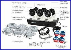 Swann NVR8-8580 8 Channel NVR 2TB 6x NHD-885 8MP 4K Ultra HD Cameras CCTV Kit