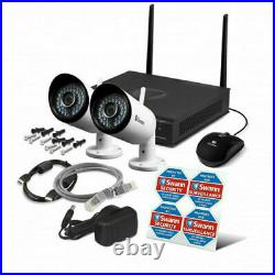 Swann NVW-485 4 Channel 1-2TB Wi-Fi HD 1080P CCTV Wireless Camera Kit With Audio