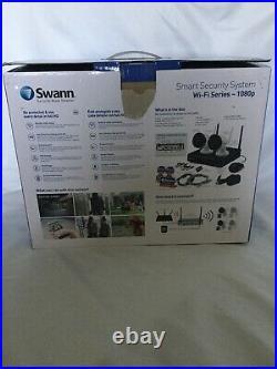 Swann NVW-490 Wi-Fi 4 Channel 1080p Security DVR 2 x 1080p Camera CCTV Kit 16GB