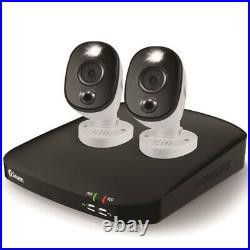 Swann Outdoor Wired HD Night-Vision 4-Channel CCTV DVR Kit 2 Cameras 1 TB White