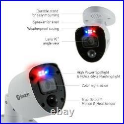 Swann Swdvk-856804-rl 8-channel 4k Cctv Dvr Kit & 4 Cameras Flashing Light Siren