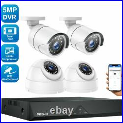 TOGUARD 8CH 5MP CCTV HD Night Vision Outdoor DVR HDMI Home Security System Kits