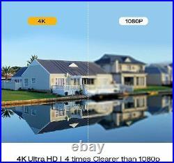 TOGUARD HD 4K POE Security Camera System 8MP Surveillance 8CH NVR Camera Kit 3TB