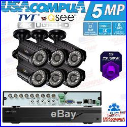 TVT vs Q-SEE SECURITY SYSTEM 8 CH 6 CAMERA 1080P KIT WITH 1TB WD HDD DVR NEW