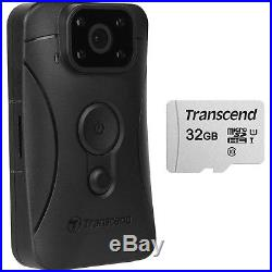 Transcend DrivePro Body 10 1080p HD Video Camera Camcorder & 32GB Card Kit