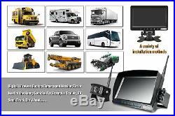 Truck Digital Wireless Systems Reverse Rear View Back 7 HD Monitor/Camera kits