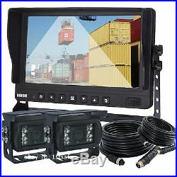 VEISE 9 Reversing Rear View Camera System Kit for Agriculture Harvester Tractor