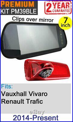 Vauxhall Vivaro Renault Trafic Brake Light Reversing Camera Kit Easy Fit