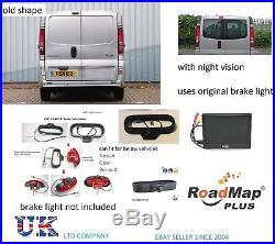 Vauxhall vivaro brake light rear reversing camera kit 5 inch monitor parking