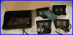 Vehicle Truck 12-24V Wireless Car Reversing Kit 4 x Camera +7 TFT LCD Monitor