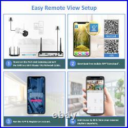 WLAN Wireless Wifi 1080P CCTV Camera System IP Security NVR Kit IP66 IR 1TB HDD