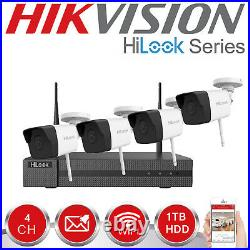 Wifi Cctv System Hikvision Hilook 2mp Kit Bullet Cameras 1080p 1tb Outdoor Night