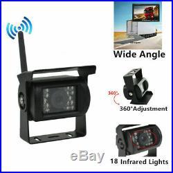 Wireless 7 HD Monitor 4 x CCD Reversing Camera Rear View Kit 12V 24V Truck VAN