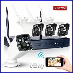 Wireless 960P HD Night Vision IP Camera System 4CH NVR H. 264 CCTV Security Kit
