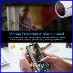 Wireless CCTV 4CH 1080P Night Vision Outdoor DVR Security System Kit LCD Monitor
