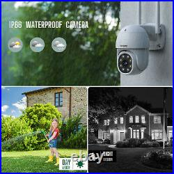 Wireless CCTV Kit Security System FullHD 1080P 4CH NVR Home Outdoor Audio Camera