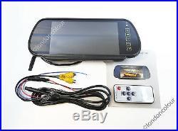 Wireless Ford Transit IR Brake Light Rear Reverse Camera +7 Clip-on Monitor Kit