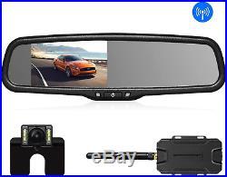 Wireless Reverse Camera Kit Auto Vox Backup Camera with Rear View Mirror