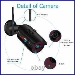 Wireless WIFI 1080P CTV Security Camera Kit 4CH NVR IR Night Vision Video Record