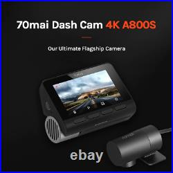 Xiaomi 70mai A800S- 4K UHD Dash Cam with GPS (Include Rear Cam and Hardwire kit)