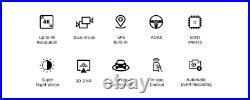 Xiaomi 70mai A800 GPS 4K Dash Cam INCLUDING Rear Cam and Hardwire Kit