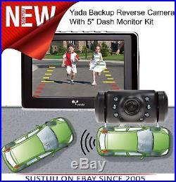 Yada Backup Reverse Camera + 5 Dash Monitor KitNight VisionDigital SignalNew