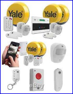 Yale Easy Fit Wireless Alarm Home Property Security System Kit & Accessories