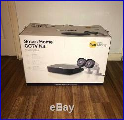 Yale SV-4C-2ABFX-2 Smart Home CCTV Kit, x2 Outdoor Night Vision Cameras 1080p NEW