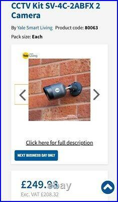 Yale Smart Home Wired CCTV Kit SV-4C-2ABFX 2 Camera