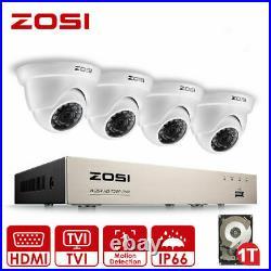 ZOSI 3000TVL CCTV Security Camera System Kit 1080P 4CH DVR HDMI Motion Detection