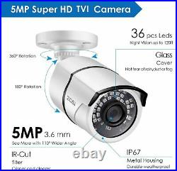 ZOSI 5MP CCTV Home Security Camera System Kit 8CH DVR Outdoor Night Vision HD