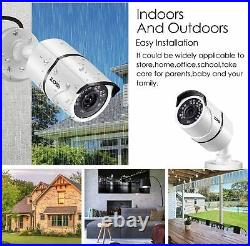 ZOSI 5MP CCTV Home Security System Kit 8CH DVR Outdoor IP67 Camera Night Vision