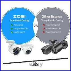 ZOSI 8CH 5MP NVR CCTV Dome POE Security IP Camera System Kit IP66 Night Vision
