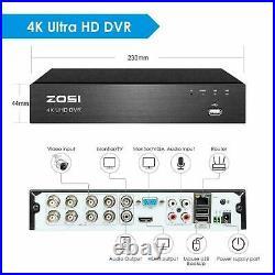 ZOSI 8MP CCTV System 8CH 4K Ultra HD DVR Dome Camera Home Security Kit IR Night