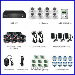 ZOSI 8.0MP Ultra HD 4K CCTV Camera 2TB 8CH DVR Home Security System Kit Outdoor