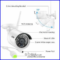 ZOSI Wireless CCTV 1080P NVR Kit HD WiFi IP Camera Home Security System Outdoor