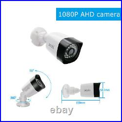 ZooHi 4CH 1080P Home Security Camera System Outdoor Video Monitoring CCTV Kit IR