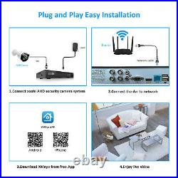ZooHi Home CCTV Security Camera System Outdoor 8CH 1080P HD AHD DVR Kit 1TB HDD