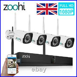 Zoohi Wireless CCTV 1080P NVR Kit HD WiFi IP Camera Home Security System Outdoor
